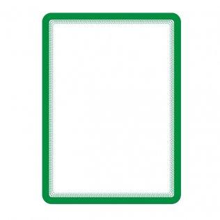Marco porta anuncios A4 verde bandas magnéticas Tarifold 2ud
