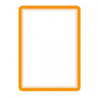 Marco porta anuncios A4 naranja bandas magnéticas Tarifold 2ud