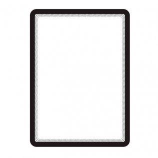 Marco porta anuncios A4 negro bandas magnéticas Tarifold 2ud