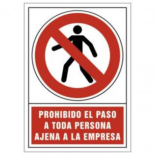 Pictograma Sys Prohibido paso a toda persona ajena de la empresa