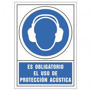 Uso obligatorio protección acústica pictograma Sys