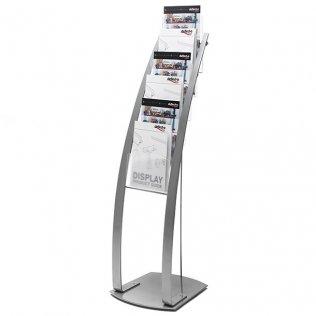 Expositor Contemporary vertical A4 para suelo Deflecto