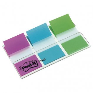 Marcapáginas Post-it 3 colores 25x43,2mm dispensador 60 ud