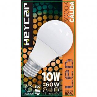 Bombilla LED Clasic E27 10W 830LUM Cálida