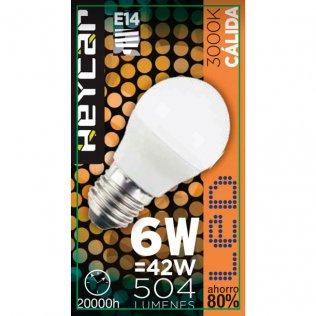 Bombilla LED Clasic E14 6W 470LUM Cálida