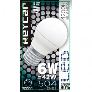 Bombilla LED Clasic E27 6W 470LUM Blanca