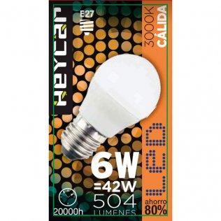 Bombilla LED Clasic E27 6W 470LUM Cálida