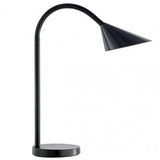 Lámpara de escritorio LED Sol negro Unilux