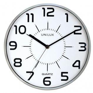 Reloj de pared Pop gris metalizado Unilux 11 pulgadas