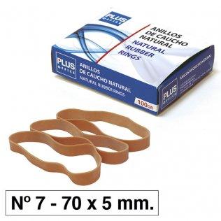 Bandas elásticas Nº7 Plus Office 70x5mm caja 100gr