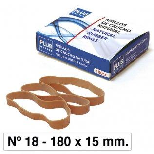 Bandas elásticas Nº18 Plus Office 180x15mm caja 100gr