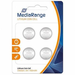 Pilas de botón MediaRange CR2025 / 4 unid
