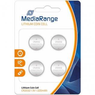 Pilas de botón MediaRange CR2032 / 4 unid