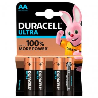 Pilas Duracell Alcalinas Ultra AA / blíster 4 ud