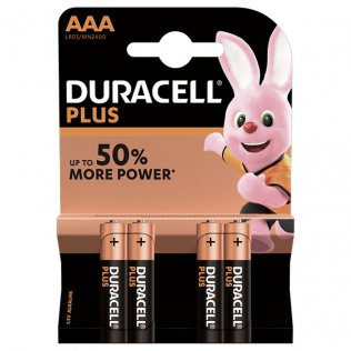 Pilas Duracell alcalinas Plus AAA / blíster 4 ud