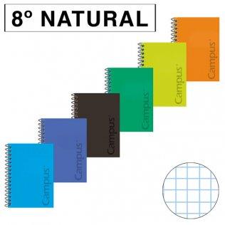 Bloc espiral Tapa PP 8º Natural 80H - 60g Cuadrícula 4x4 mm