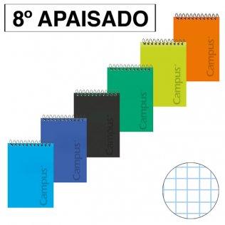 Bloc espiral Tapa PP 8º Apaisado 80H - 60g Cuadrícula 4x4 mm