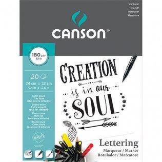 Bloc de Dibujo Lettering Canson A4+ 180g 20 hojas