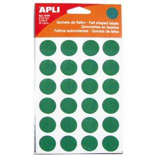 Gomets Apli fieltro redonda 20mm 1h verde