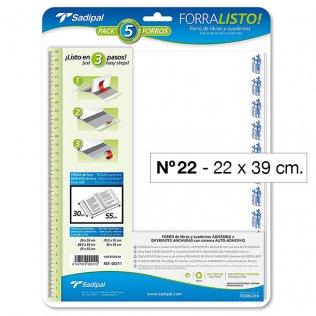 FORRO PLASTICO SADIPAL Nº22 22X39CM