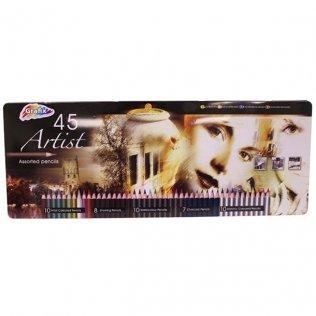 Lápices de colores RMS caja de metal 45 colores