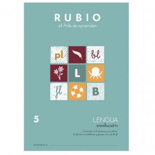 Cuaderno Rubio Lengua Evolución 5