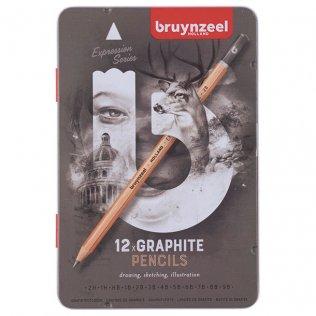 Lápices de grafito Bruynzeel Expression / 12 unid