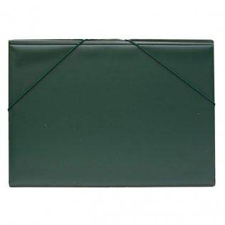Carpeta PVC Folio gomas y solapas verde oscuro