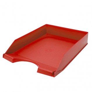 Bandeja sobremesa opaca roja Plus Office