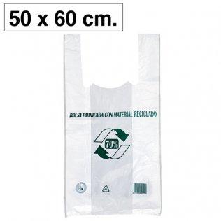 Bolsas blancas de plástico camiseta 500x600mm 100ud