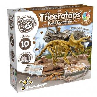 Juego Educativo Excavación Triceratops Science4You