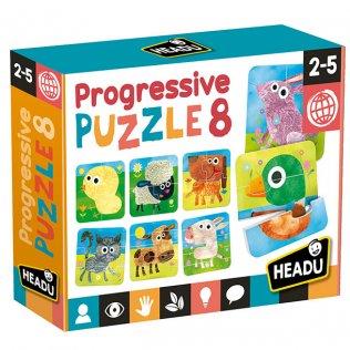 Juego Educativo Puzzle Progressive 8 Fournier