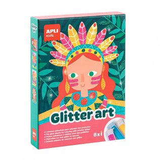 Juego Educativo Glitter Art Purpurina Apli Kids