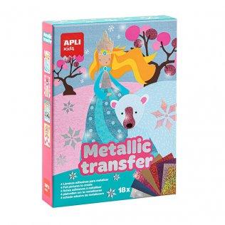 Juego Educativo Metallic Transfer Princesas Apli Kids