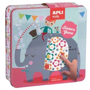 Juego Educativo Stickers Game Elefante Apli Kids
