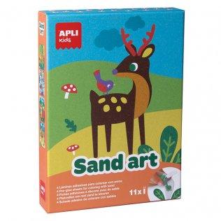 Juego Colorea con arena Sand Art Apli Kids