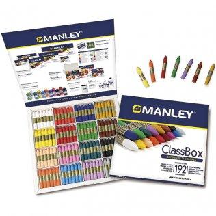 Ceras Manley Pack Escolar 192 ceras 16 colores