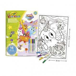 Álbum Gigante Mini Kids con 4 rotuladores Crayola