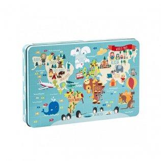 Puzzle World Map Apli Kids 24 piezas