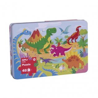 Puzzle 48 piezas Dinosaurios Apli Kids 48 piezas