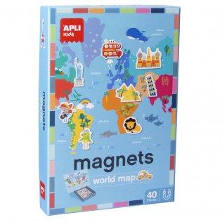 Juego Educativo Magnets World Map Apli Kids