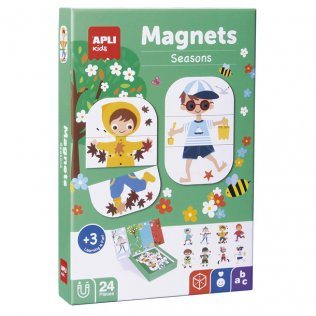 Juego Educativo Magnets Seasons Apli Kids