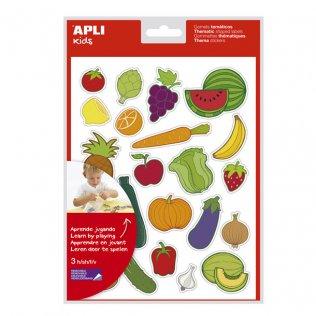Gomets Temáticos Frutas y Verduras 69 gomets Apli