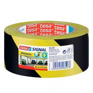 Cinta de Seguridad Tesa 50mm x 66m Amarillo/Negro