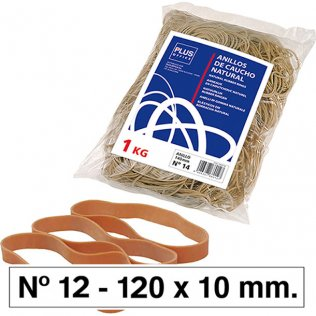 Bandas elásticas Nº12 Plus Office 120x10mm bolsa 1 kg
