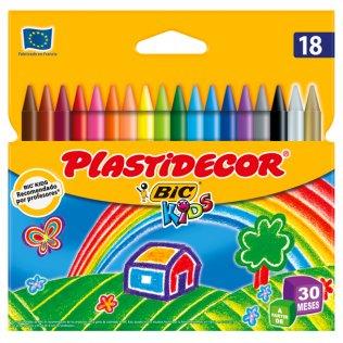 Lápices de cera PLASTIDECOR 18 uds.