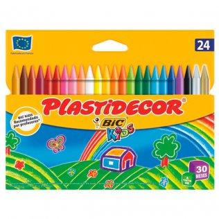 Lápices de cera PLASTIDECOR 24 uds.