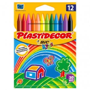 Lápices de cera PLASTIDECOR 12 uds.