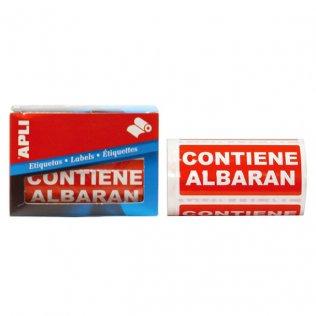 Etiquetas de envío Contiene Albarán 50x100mm 200ud Apli