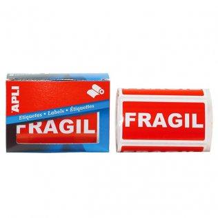Etiquetas de envío Frágil 50x100mm 200ud Apli
